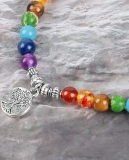7-Chakra-Meditation-Jewelry-Natural-Lava-Rock-Stone-Beaded-Bracelets