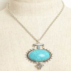 aqua-gem-stone-vintage-necklace